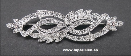 Silver jewelry brooch.