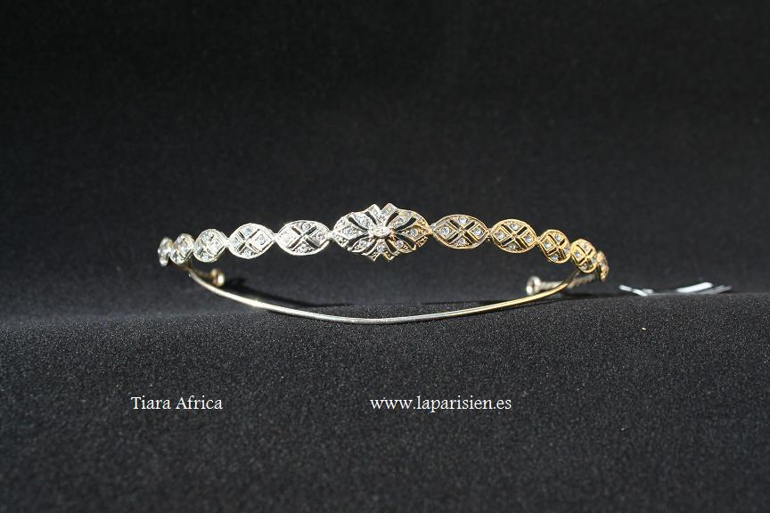 Silver wedding tiara, Africa model.
