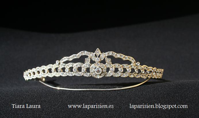 Silver wedding tiara, Allamo model.