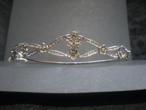 Silver wedding tiara, Ibiza model.
